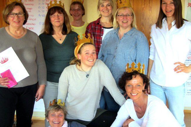 Zufriedene Teilnehmerinen des Drama Queen Trainings